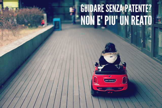 GUIDARE SENZA PATENTE